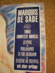 Cover image of works by the Marquis de Sade